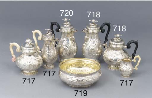 A German silver serving-bowl