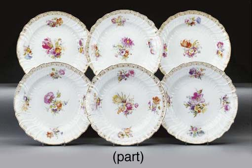 Ten Berlin (K.P.M.) porcelain