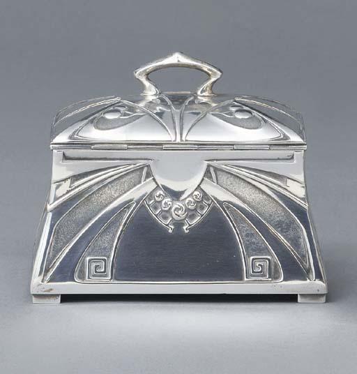 A German silver Jugendstil cas