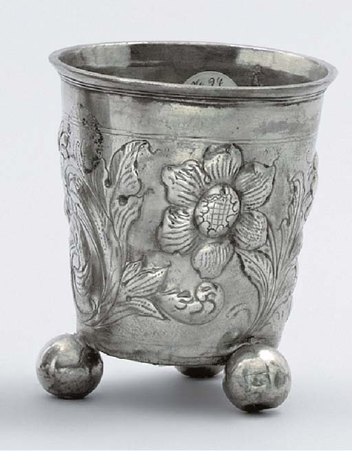 A Danish silver beaker