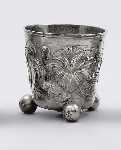 A Scandinavian silver beaker