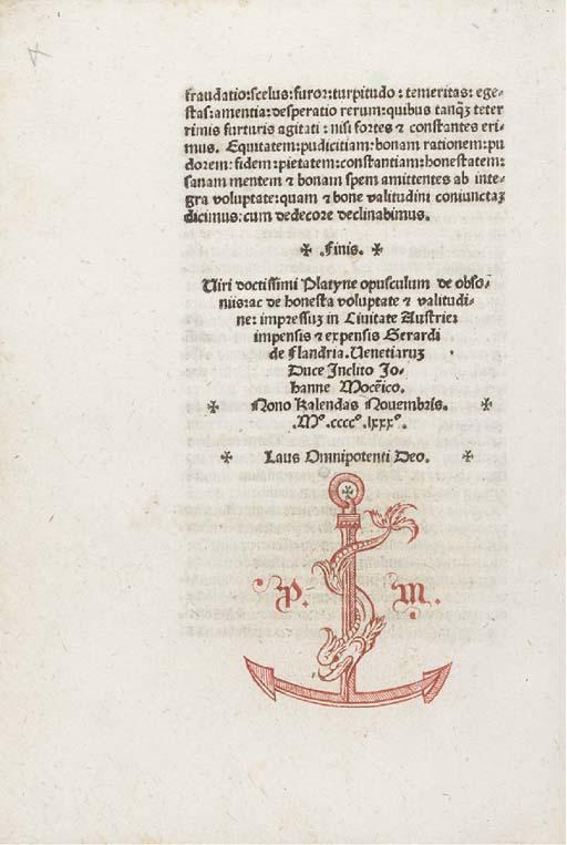PLATINA, Bartholomaeus (1421-1
