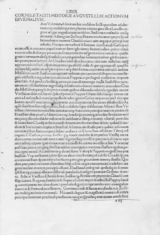 TACITUS, Publius Cornelius (c.