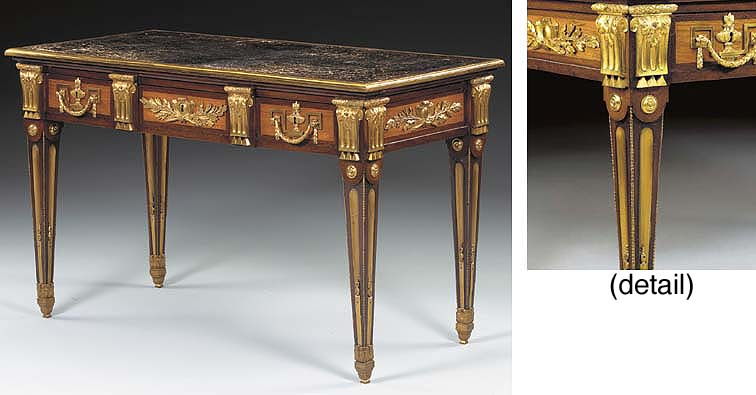 A LATE LOUIS XV ORMOLU-MOUNTED