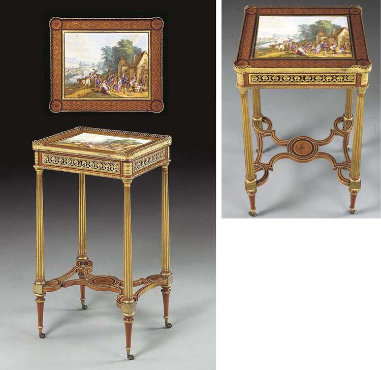 A LOUIS XVI ORMOLU AND SEVRES