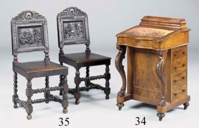 A PAIR OF OAK SIDE CHAIRS, LAT