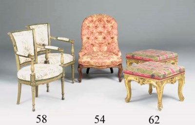 A pair of square giltwood and