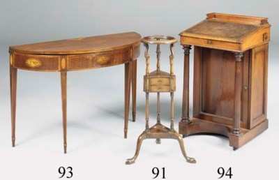 A MAHOGANY WASH STAND, 19TH CE