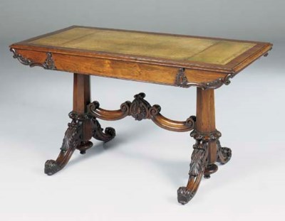 A VICTORIAN CARVED ROSEWOOD LI