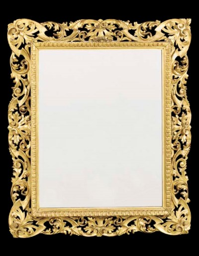 An Italian giltwood mirror, la