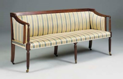 A mahogany settee, first half
