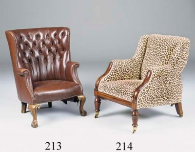 A George IV rosewood armchair