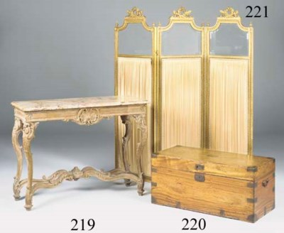 An oak console table, 19th cen