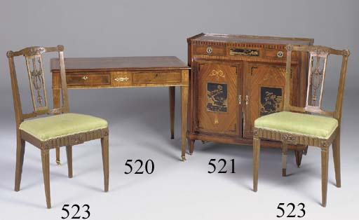 A PAIR OF DUTCH OAK SIDE CHAIRS, LATE 19TH CENTURY