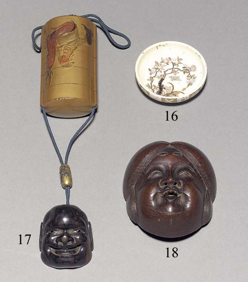 A four-case gold ground lacquer inro 19th Century