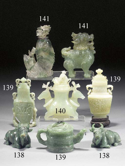 A group of hardstone animal censers 20th Century