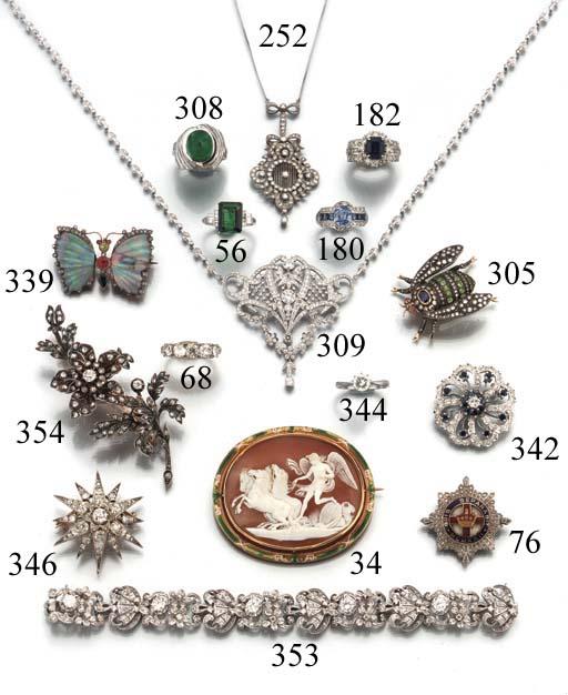 A diamond, rose-cut diamond and enamel regimental badge brooch,