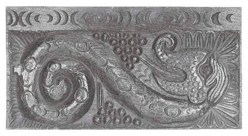 A relief carved oak panel depi