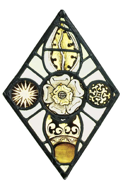A Medieval stained glass panel