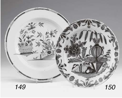 A Delft plate, Netherlandish,
