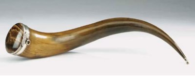 A large Scottish horn silver m