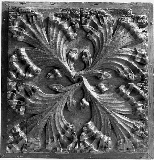 An English relief carved oak p