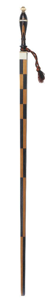 An English mahogany inlaid woo