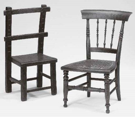 Two child's chairs, 19th centu