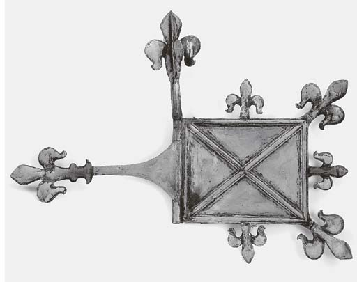 A French copper weather vane,