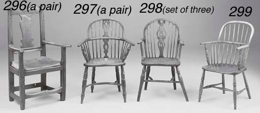 A PAIR OF OAK ARMCHAIRS, PROBA