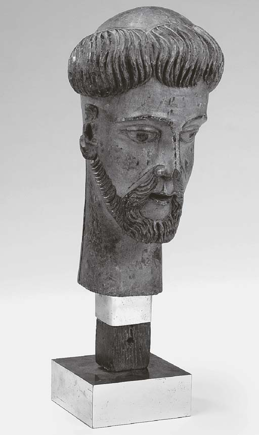 A Spanish polychrome carved wo