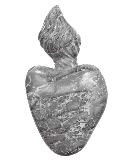 A carved breccia marble model