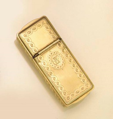 A FRENCH 19TH CENTURY GOLD VES