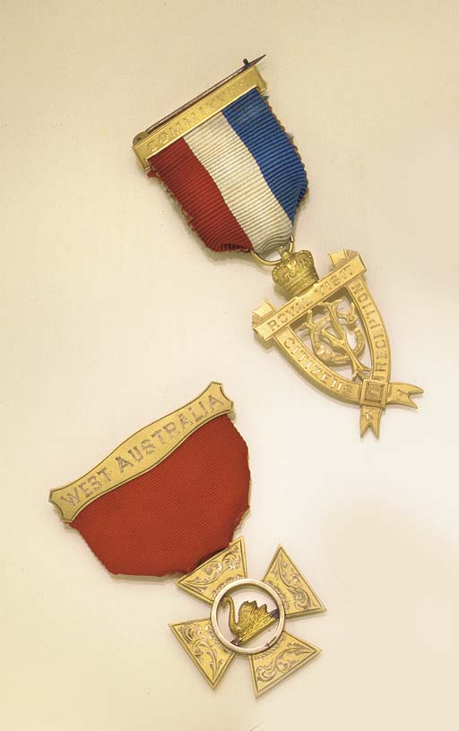TWO GOLD MEDALS RELATING TO TH
