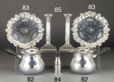A GEORGE III SILVER CANNISTER