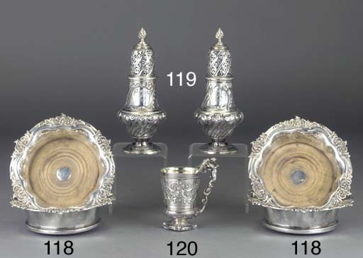 A PAIR OF VICTORIAN SILVER CAS