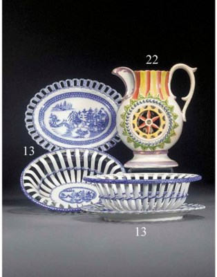 Two pearlware blue and white o