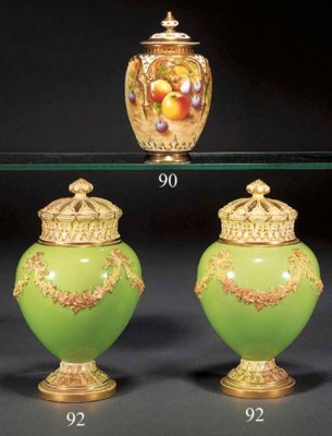 A pair of Royal Worcester gree
