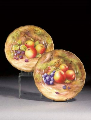 Two Royal Worcester plates