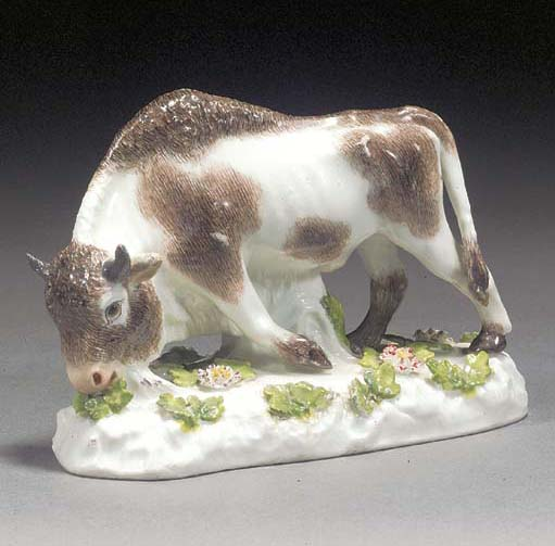 A Meissen model of a bison