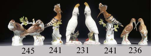 A pair of modern Meissen model