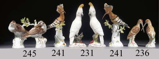 A pair of Meissen models of sn