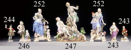 Two Meissen (outside-decorated