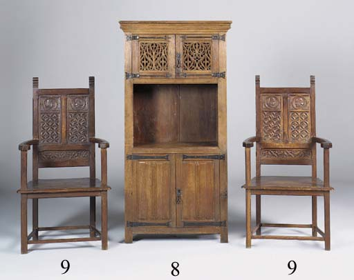 A FRENCH OAK CABINET IN THE GO