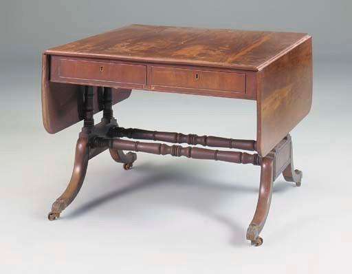 A large Regency mahogany sofa