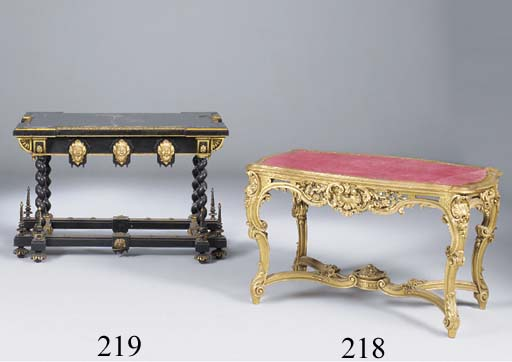 A giltwood centre table, 20th