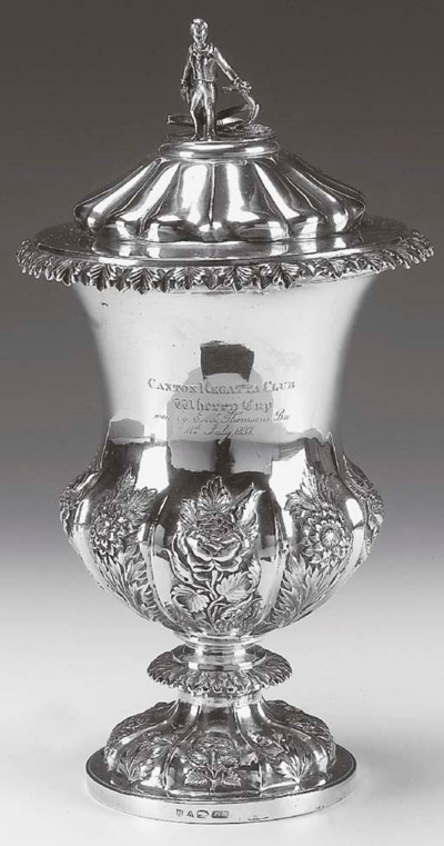 AN INDIAN COLONIAL CUP AND COV