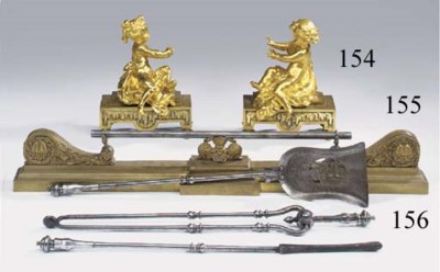 A set of Victorian steel fire