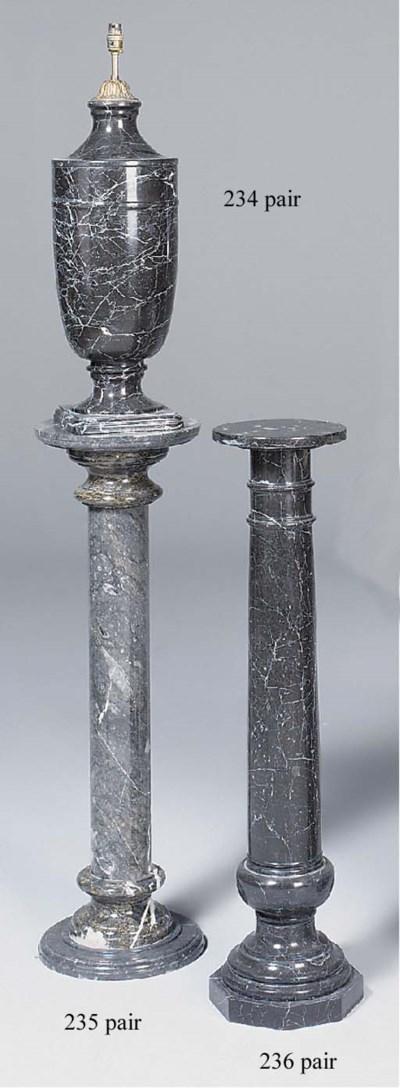 A pair of variegated grey marb