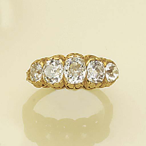 A 19th century gold, diamond f